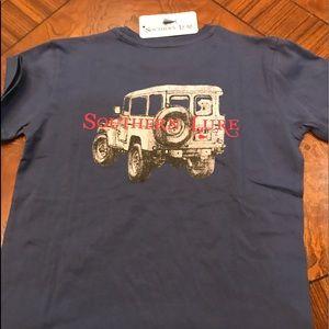 Southern Lure YM SSTee slate blue Jeep Lab NWT